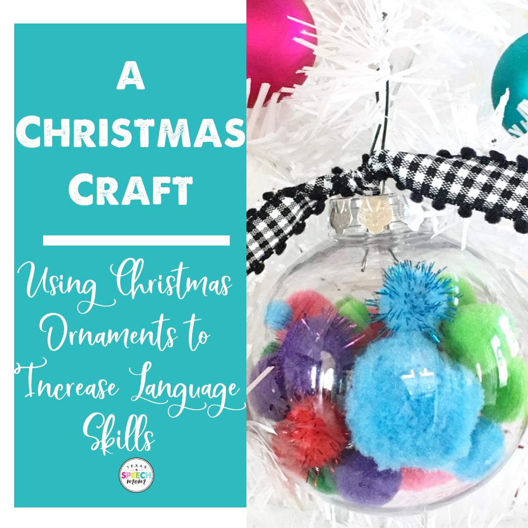Easy Christmas Craft For Language Development
