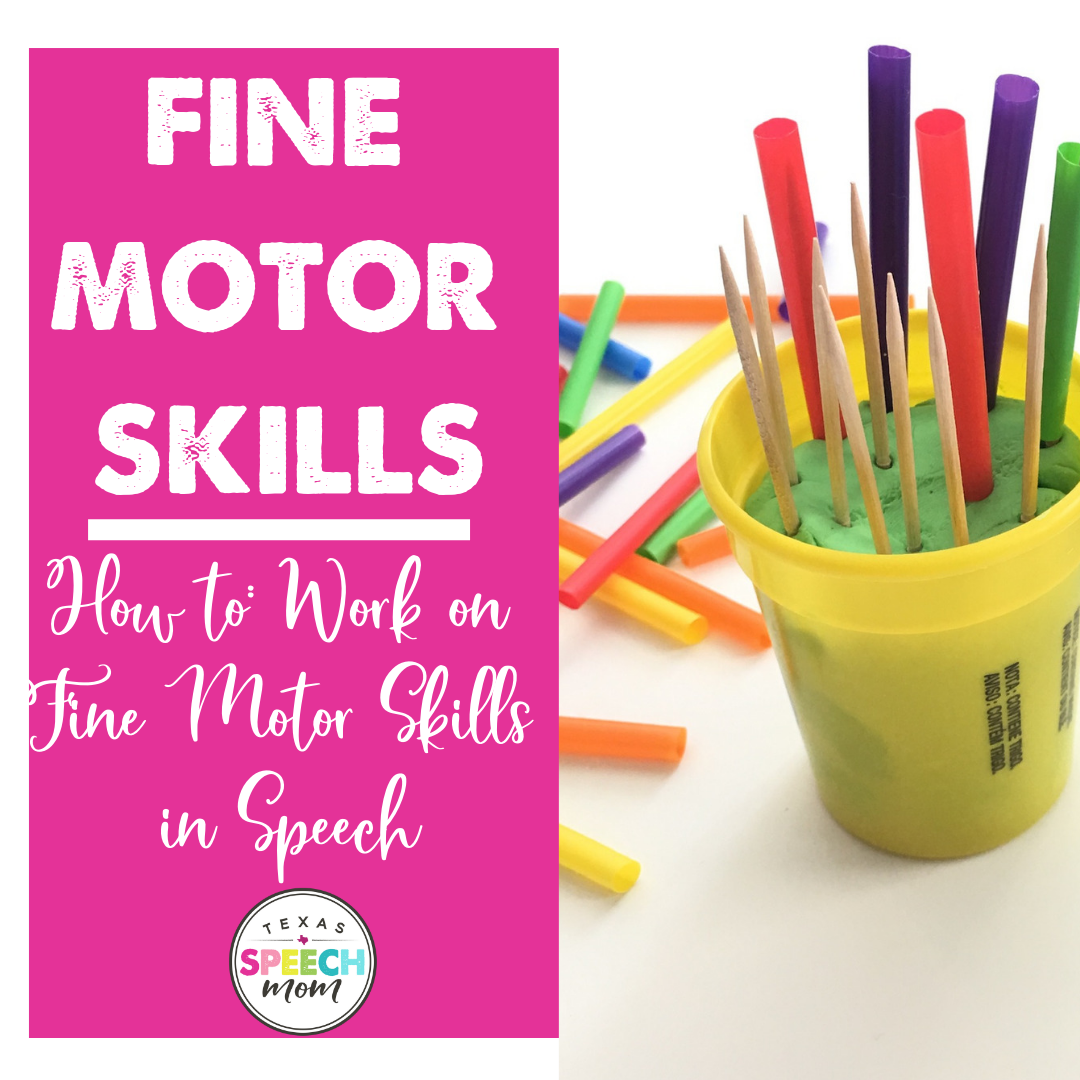 Fine Motor Skills in Speech Therapy
